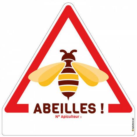Panneau triangle 'Abeilles !'