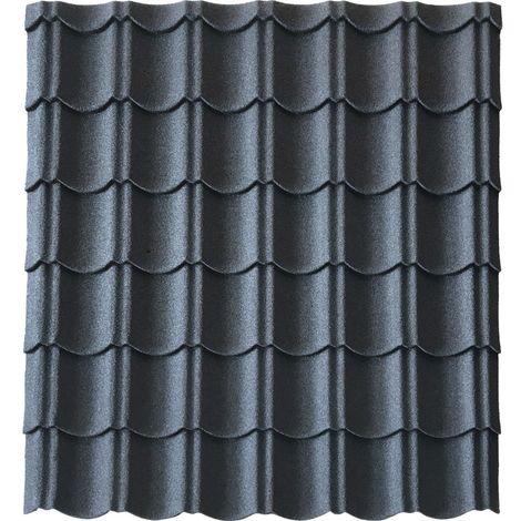 Panneau tuile facile 1030 X 950 MM en acier galvanisé aspect granulé minéral