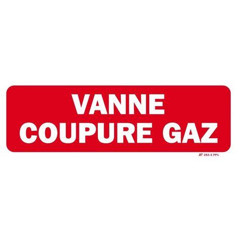 Panneau VANNE COUPURE GAZ 300x100