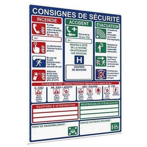 Panneau Vertical Des Consignes De Sécurité