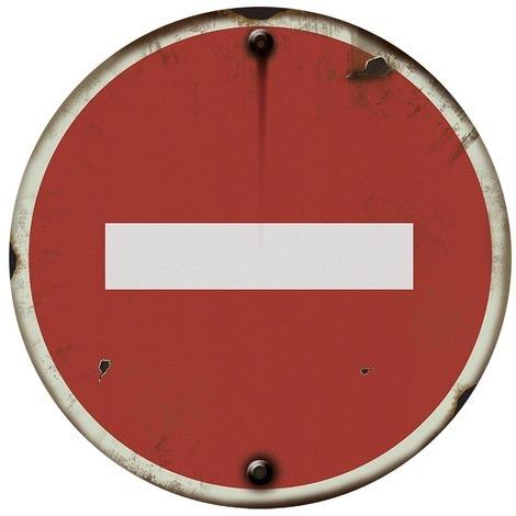 Panneau VINTAGE Sens interdit - Novap
