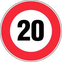 Panneau Vitesse limitée à 20 Km/h - Novap