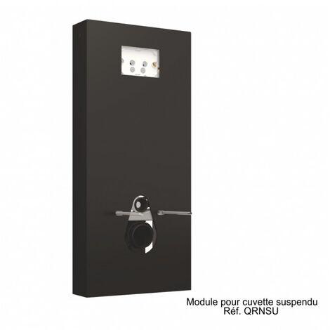 Panneau WC QR-BOX Noir suspendu - sans cuvette - Regiplast