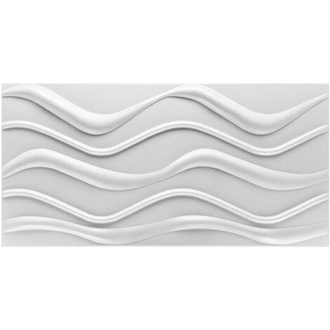 Panneaux 3D   Panneaux PS   Décoration des murs et plafonds   100x50cm   Hexim   Wave SP