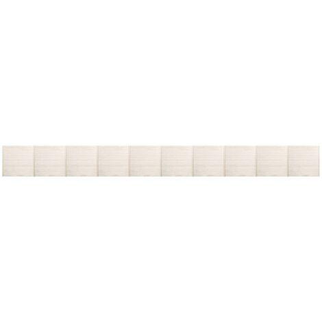 Panneaux de clôture 10 pcs 17x1,7 m