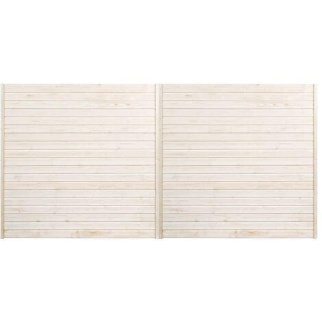 Panneaux de clôture 2 pcs 3,4x1,7 m