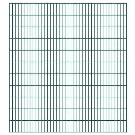 Panneaux de clôture 2D de jardin 2008 x 2230 mm 22 m Vert
