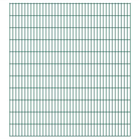 Panneaux de clôture 2D de jardin 2008 x 2230 mm 24 m Vert