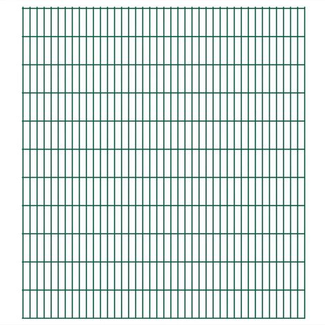 Panneaux de clôture 2D de jardin 2008 x 2230 mm 50 m Vert