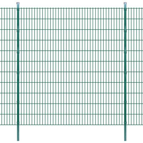 Panneaux de clôture 2D et poteaux 2008x2230 mm 6 m Vert