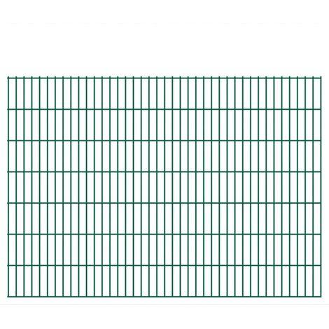 Panneaux de clôture 2D pour jardin 2008x1430 mm 6 m vert