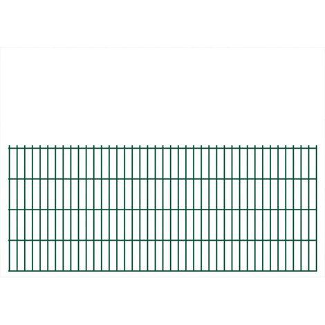 Panneaux de clôture 2D pour jardin 2008x830 mm 34 m Vert