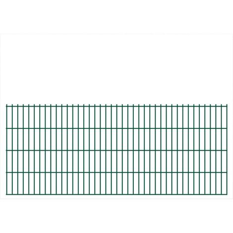 Panneaux de clôture 2D pour jardin 2008x830 mm 38 m Vert