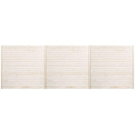 Panneaux de clôture 3 pcs 5,1x1,7 m
