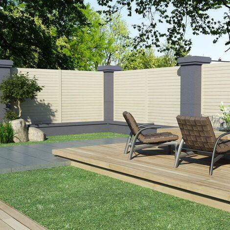 Panneaux de clôture 4 pcs 6,8x1,7 m