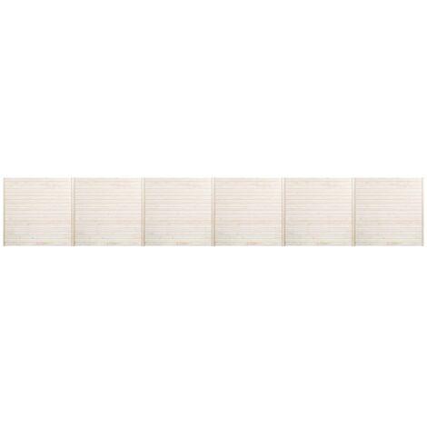 Panneaux de clôture 6 pcs 10,2x1,7 m