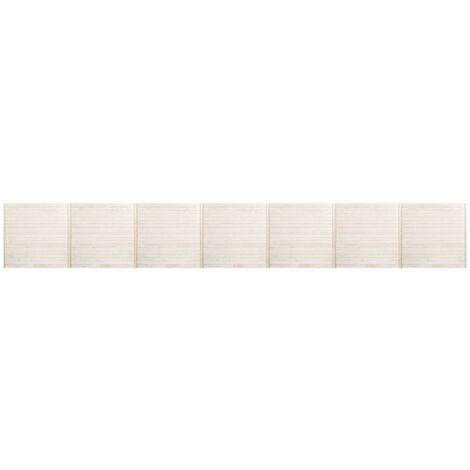 Panneaux de clôture 7 pcs 11,9x1,7 m