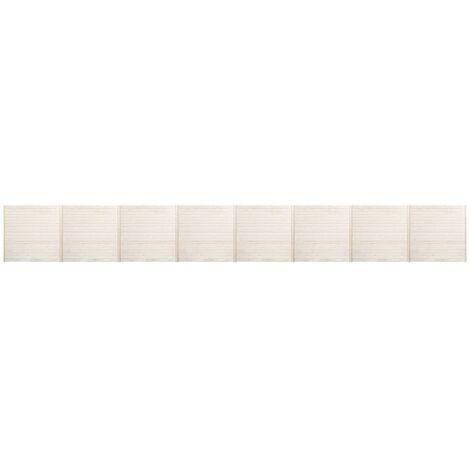 Panneaux de clôture 8 pcs 13,6x1,7 m