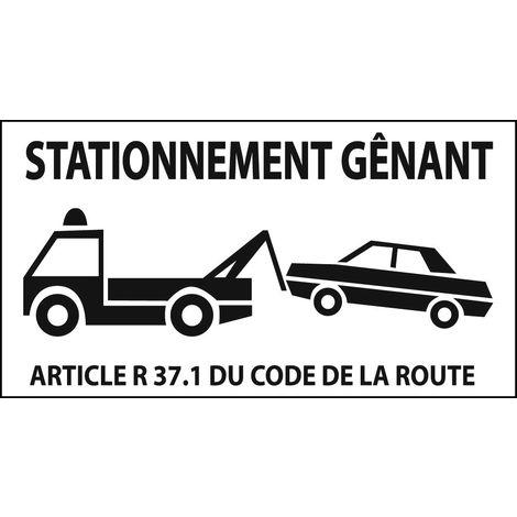 Panneaux de signalisation rectangulaires Novap - Stationnement gênant - Mise en fourrière