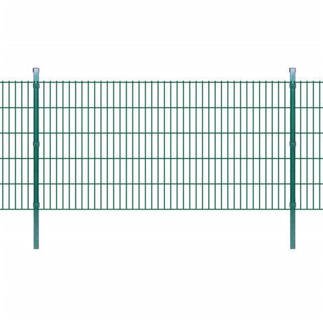Panneaux et poteaux de clôture 2D pour jardin 2008x1030 mm 12 m