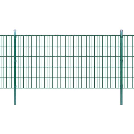 Panneaux et poteaux de clôture 2D pour jardin 2008x1030 mm 32 m