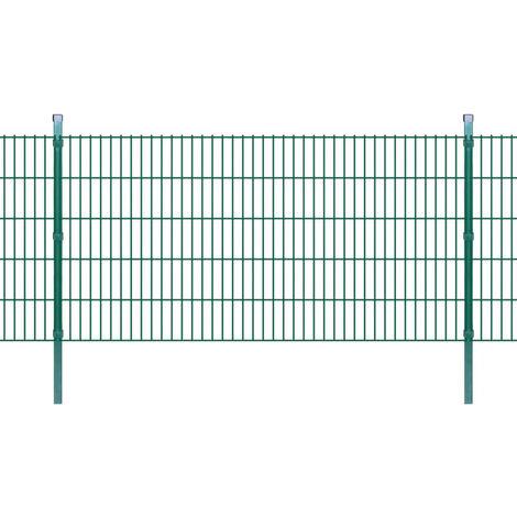 Panneaux et poteaux de clôture 2D pour jardin 2008x1030 mm 6 m