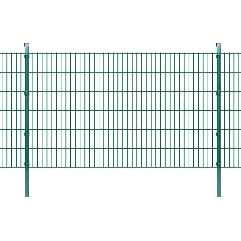 Youthup - Panneaux et poteaux de Clôture 2D pour jardin 2008x1230 mm 10 m