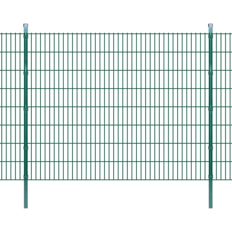 Youthup - Panneaux et poteaux de Clôture 2D pour jardin 2008x1630 mm 10 m
