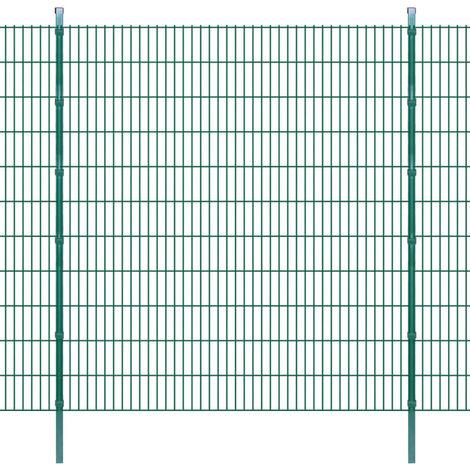 Panneaux et poteaux de clôture 2D pour jardin 2008x2230 mm 32 m