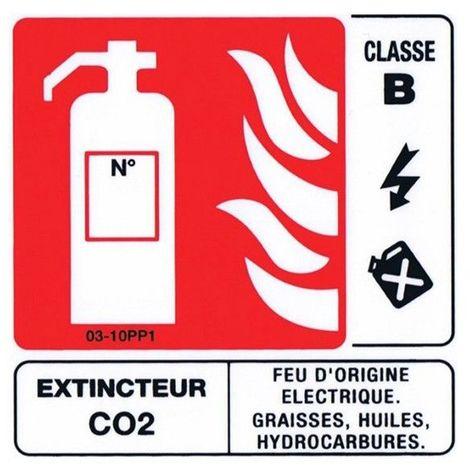 Panneaux Extincteur Classe B 100x100