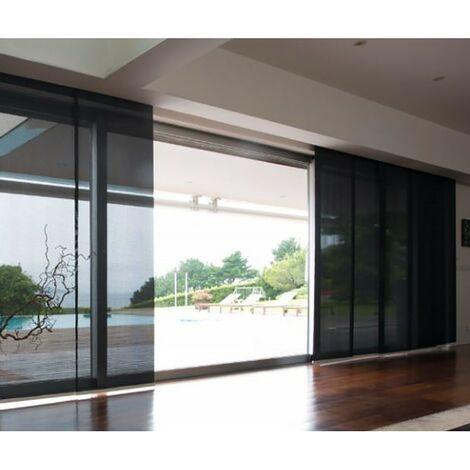 Panneaux japonais textile prêts à l'emploi 60 x 245 cm Ardoise