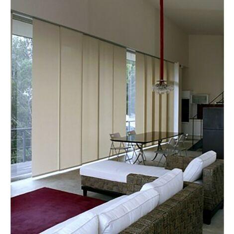 Panneaux japonais textile prêts à l'emploi 60 x 245 cm Naturel