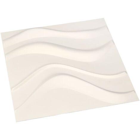 Panneaux muraux 3D 12 pcs 0,5x0,5 m 3 m²