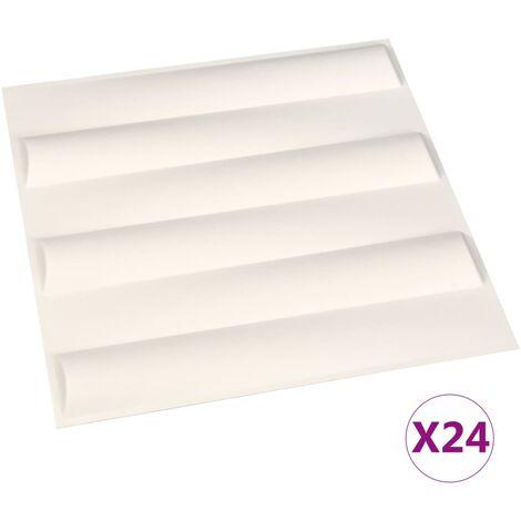 Panneaux muraux 3D 24 pcs 0,5x0,5 m 6 m²