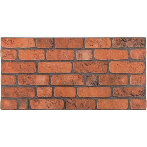 Panneaux muraux 3D au design de brique terre cuite 10 pcs EPS