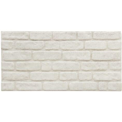 Panneaux muraux 3D avec design de brique blanc 11 pcs EPS
