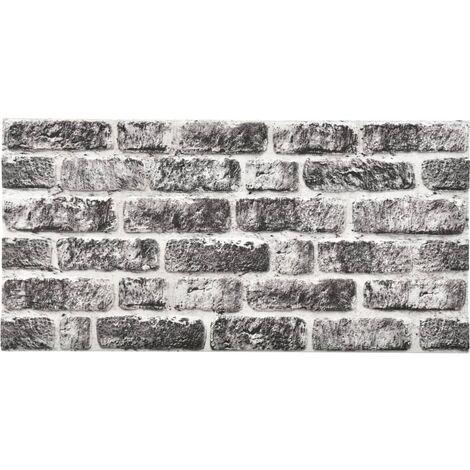 Panneaux muraux 3D design brique gris foncé 11 pcs EPS
