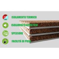 Pannello Accoppiato Cartongesso e Sughero Naturale per Isolamento Termico/Acustico- Spessore 42,5 mm - Italfrom