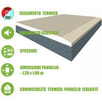 Pannello Accoppiato in Cartongesso e EPS additivato con Grafite per Isolamento Termico/Acustico - 120x100xH3,25 cm