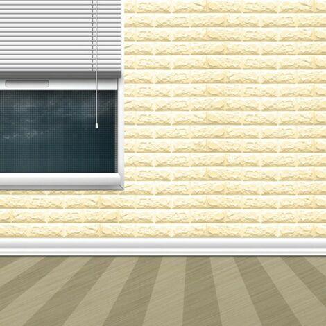 Adesivi Murali Effetto Pietra.Pannello Adesivo Per Decorazione Parete Effetto Pietra Muro 70 X 60 Cm Beige