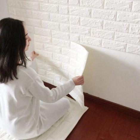 Pannello adesivo per decorazione parete effetto pietra for Carta da parati effetto mattoni