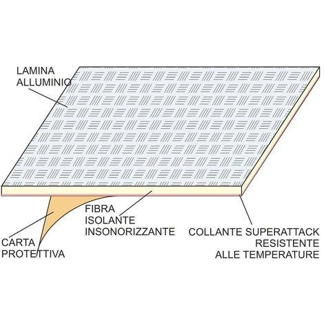 StickersLab PANNELLO ADESIVO TERMICO IN TESSUTO E ALLUMINIO RIFLETTENTE PARACALORE PROTEZIONE PLASTICHE E CARENE