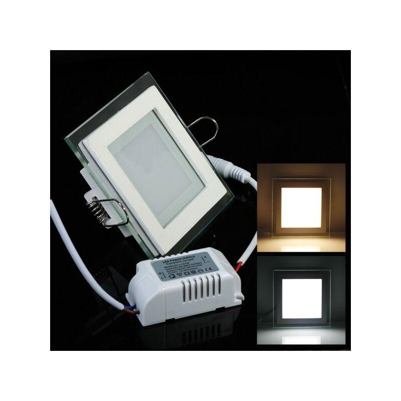 Plafoniera Incasso Led 60x60 : Pannello faretto led 18 watt ad incasso sottile 20x20 cm 5000k bordo