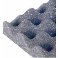 Pannello fonoassorbente adesivo bugnato 100x100cm Akustik Foam NDA