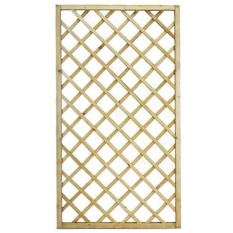 Pannello grigliato rettangolare in legno cm 60x180h per for Arredo giardini e terrazzi