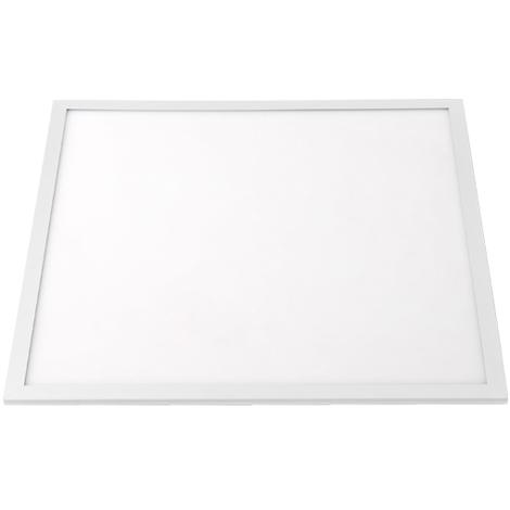 Pannello Led Cornice Bianca 50W Quadrato Bianco Freddo 6000K