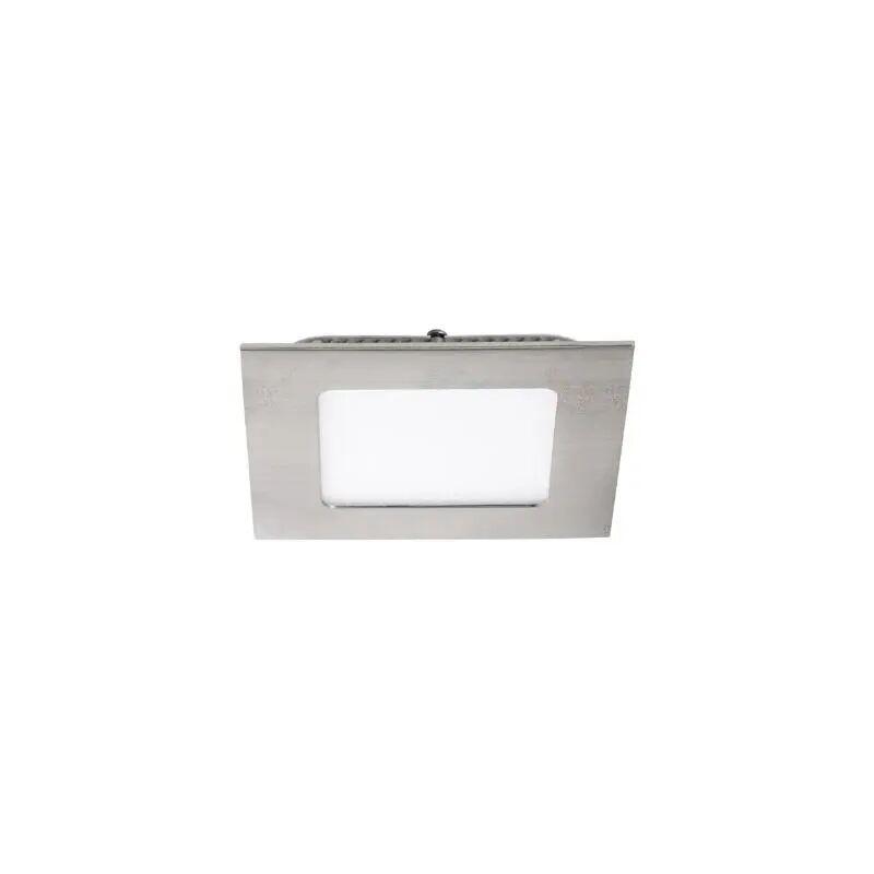 pannello led incasso 220-240 volt 6 watt CE IP20 alluminio interno nichel satinato quadrato kan 27217