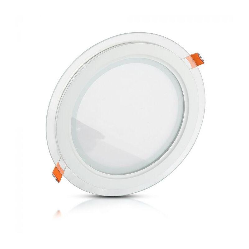 V-tac - Pannello LED da incasso tondo 18W Cornice in Vetro + Driver Mod. VT-1881G RD