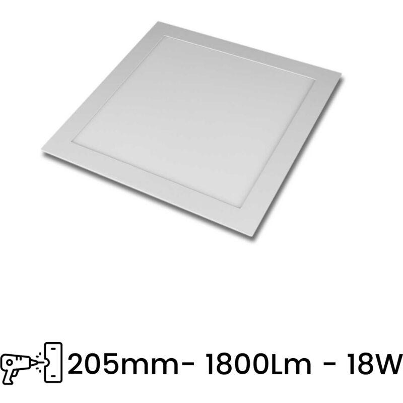 Pannello LED Slim P205A 18W Incasso Quadrato in PVC Bianco Caldo, Freddo, Naturale | Tipo di Luce: Bianco Caldo 3000K - SESAMALL