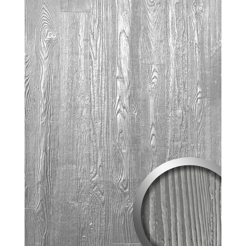 Pannello Per Interni Effetto Legno Grigio Metallico Wallface 14808